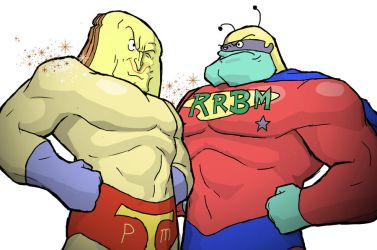 Powdered Toastman Vs Really Really Big Man by TOKYO51zombie
