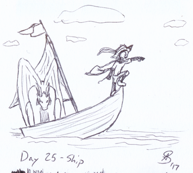 Inktober 2017 Day 25 - Ship by AnotherDemon