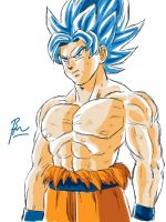 Dragon Ball Super SSGSS Goku by BM-Illustrations