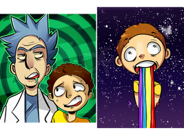 Rick and Morty Double Feature by DanchuPichu