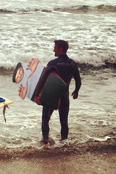 Tyler Posey's fourth punishment: Surfing! by jaydworld