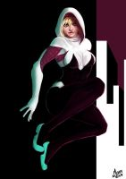 Gwen Stacy as Spider Woman by MokaPot