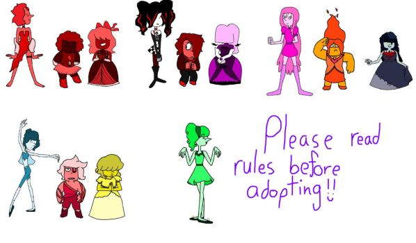CHEAP Pearl Ruby and Sapphire Adopts - OPEN! 8/13 by PURPLEGUYISHOT