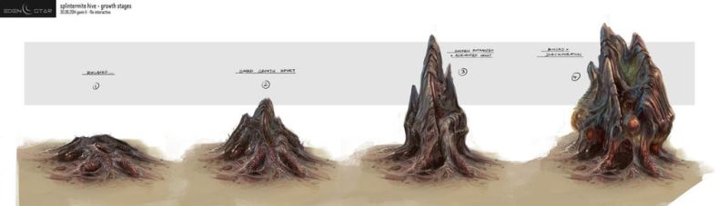Eden Star Hive 'Growth Stages' Concept by gavinli