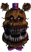 Nightmare Fredbear Head by DaHooplerzMan