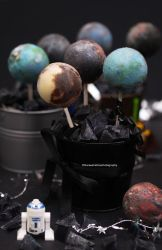 Chocolate Ganache Planet Pops by theresahelmer