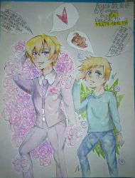 Tamaki and Takumi Suoh/ How to be handsome by XcariX21