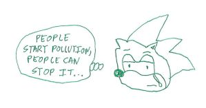 Sonic's Earth Day Thought by dth1971
