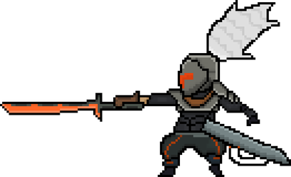 Project Yasuo Pixel Art by cyberhunter33