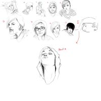 Self Portraits 1-10 by Hearing-Sounds