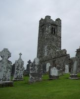 Old Church and graveyard by LooneyInside