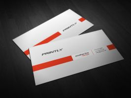 Free Printly Business Card PSD Template by kjarmo