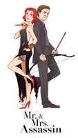 Mr. and Mrs. Assassin by MidoriEyes