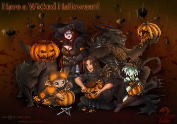 Guild Wars Halloween by Qvi