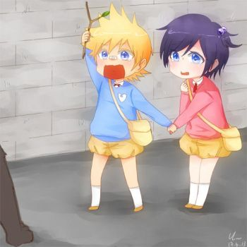 KH: little Roxas and Xion by yoruven
