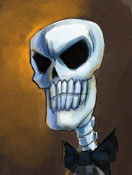Skeletal Figure in Manga Studio 5 by KatLouhio