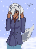 WIP Winter Fenrir Colour by TenshiHoshino