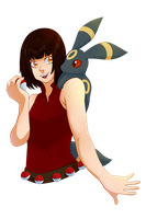 Comm: Umbreon by Miss-Sheepy