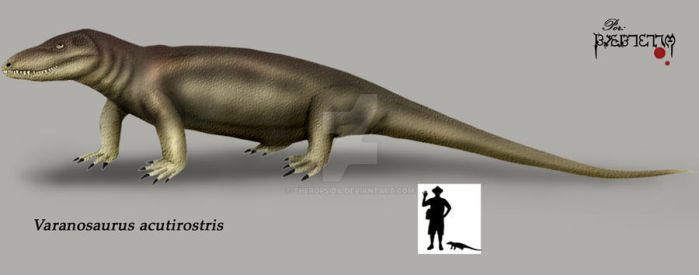 Varanosaurus acutirostris by Theropsida