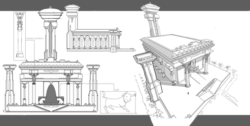 Ancient east temple concept by SergeySavvin
