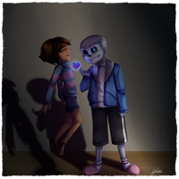 .:UT-AU-Glitchtale:. Breaking Promises by N-Lilix