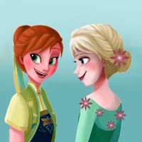 frozen fever by TheBirdFromTheMoon