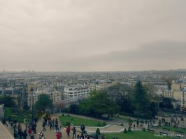 The View from Sacre Coeur, Paris by MaRyS90