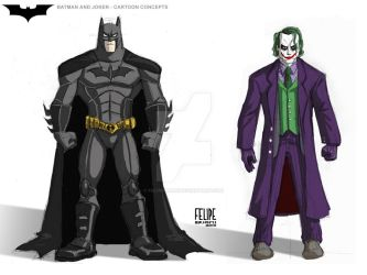 sketchbook -  Batman and Joker by FelipeBriani