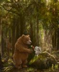 Bear and Rabbit by Devilry