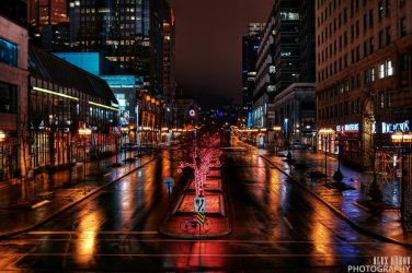 Montreal cityscape by alexrkv