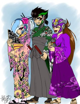 OCs in japanese outfits by Halestorm019
