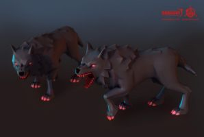 Darkout Game art: Wolves by JeroenBackx