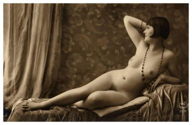 Vintage Lady Reclined Nude 10 by Bnspyrd