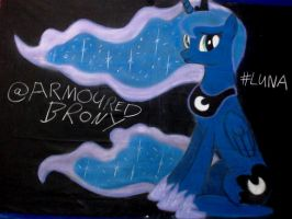 Princess Luna Chalked by TheArmouredBrony