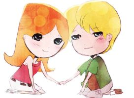 PAF: candace and jeremy chibis by ThePinkSparkles