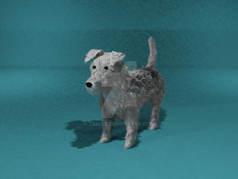 3D dog by Tiialle