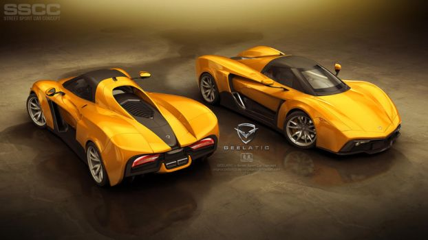 GEELATIC -- Street Sport Car Concept -- full view by megatama