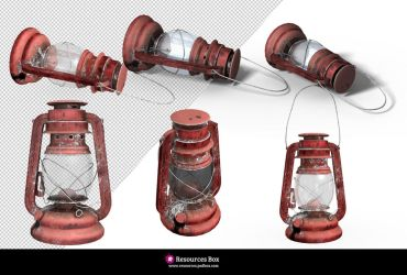 PNG Lantern + Editable 3D photoshop object by Andrei-Oprinca