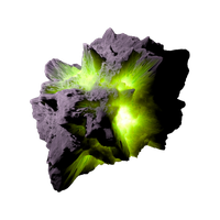Asteroid Meteor Lime | Transparent Space Stock by LapisDemon