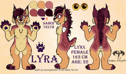 Lyra ref by Shadow-Wing456