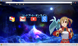 Google Chrome Sword Art Online Silica by Akw-Art-Design