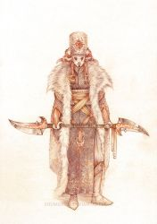 Ceremonial costume concept by Shumshum