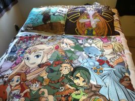 Zelda Commission Blanket and Pillowcase set by TheSpyWhoLuvedMe