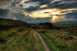 Turnpike on Skipton Moor by crowthius