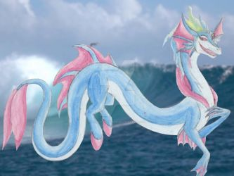 Luciana, Dragoness of Water by LadyAnaconda