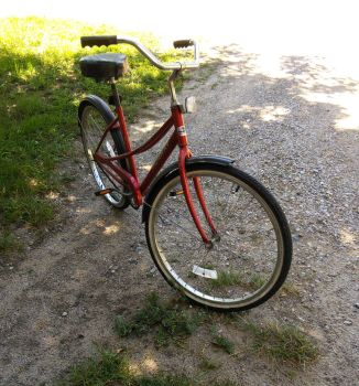 Old Red Bike by maxjwolf
