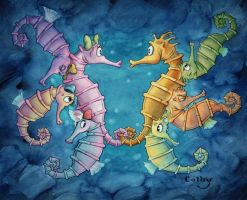 Seahorse Love by ColbyBluth