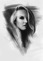 Portrait study - Charcoal to Digital by Julien-Bernard