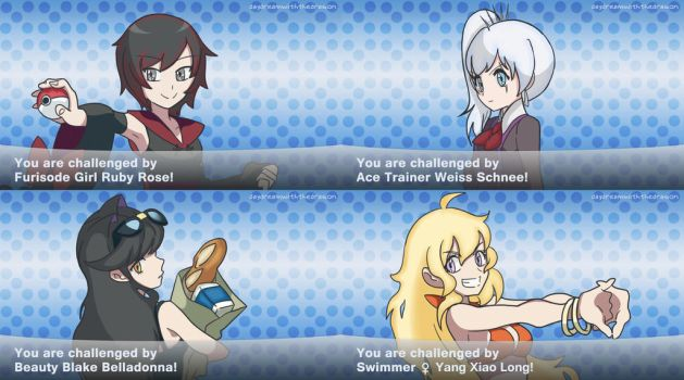 RWBY Pokemon Trainers by depression76