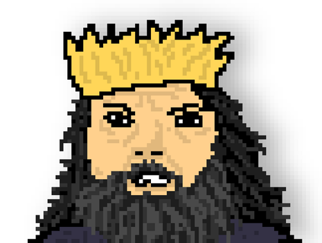 King Robert Baratheon Pixel Art by onlo